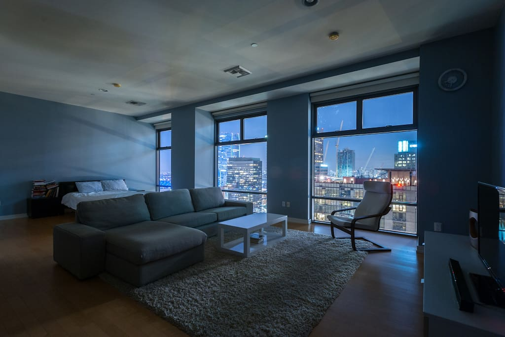 Night Time Shot From Living Room and Bedroom 1