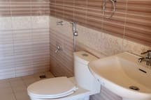 Modern toilet and bathroom in your cottage.