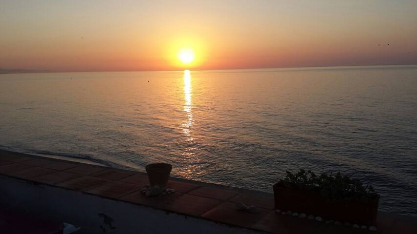 sun rise from top terrace