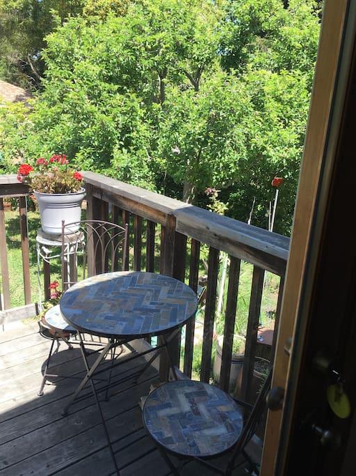 Enjoy the deck off the kitchen.