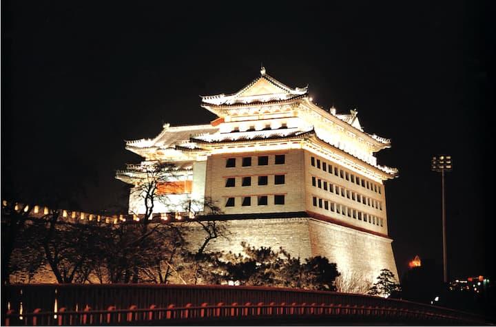 Old Beijing City Gate Qianmen
