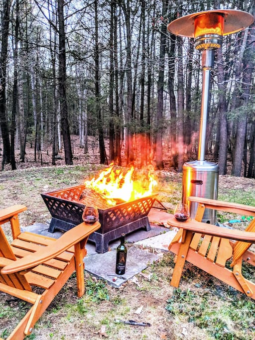Snuggle up by the fire pit