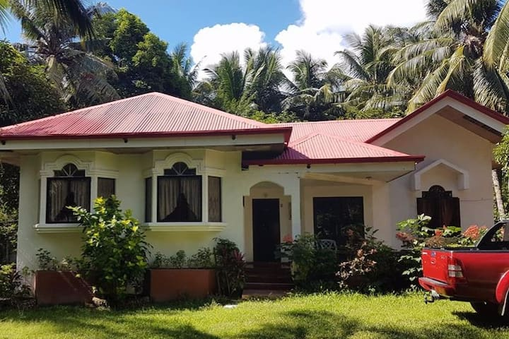 House in Dauin, 30m away from beach with garden