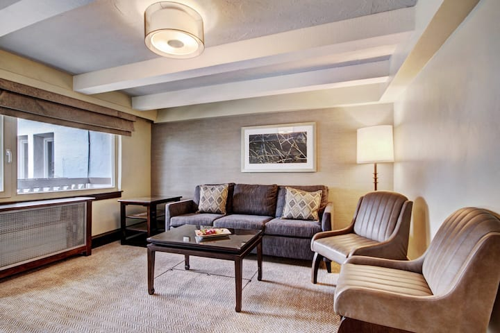 Executive Suite + Private Balcony, On-Site Pool and Hot Tubs + Spa