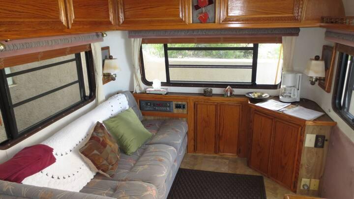 Los Barriles trailer, patios, view, casita Marroyo