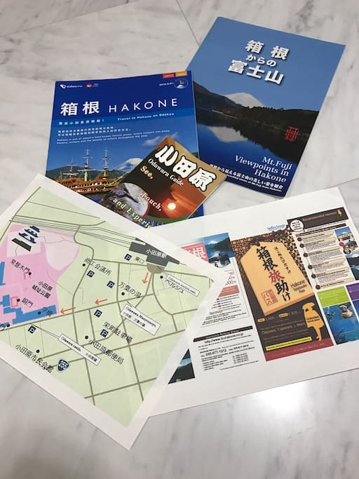 I have so many sightseeing information to Hakone & Odawara.