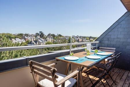 LE HYGGE - Apt avec terrasse, 150 m de la plage