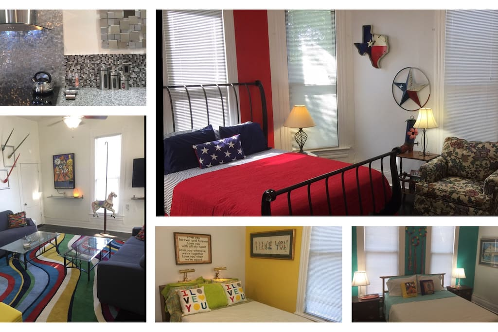 Nearly 100 y.o. home, completely updated, open, artistic, spacious, high ceilings!