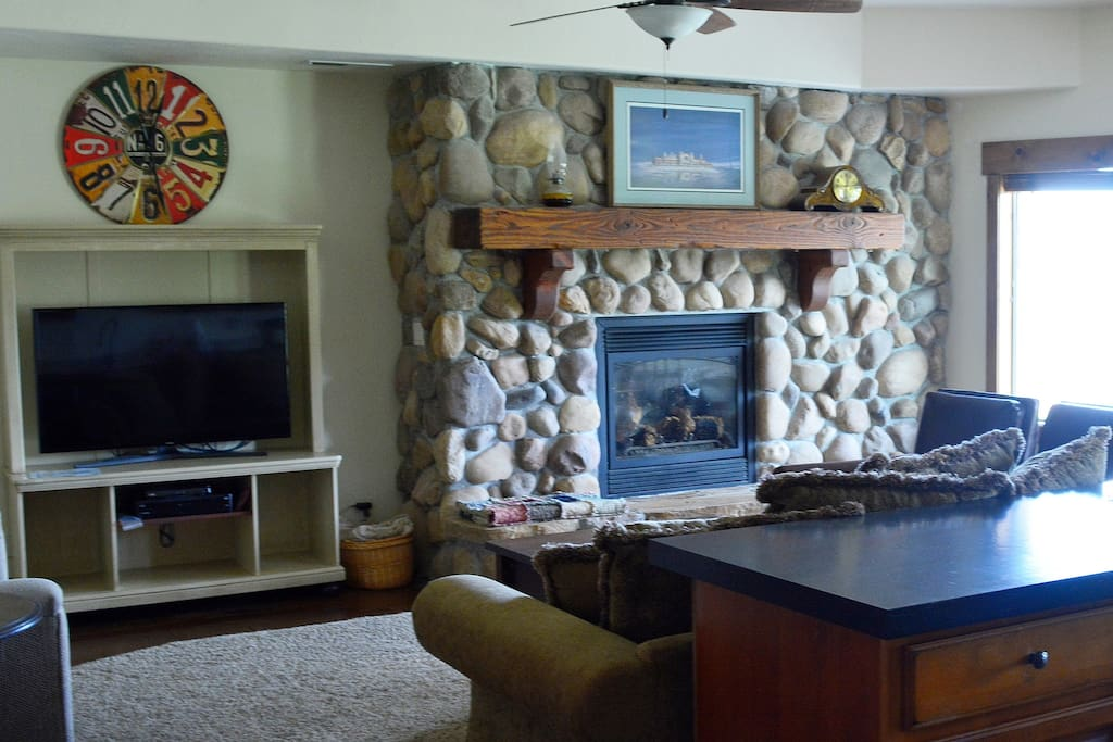 Family room - Sit by the fire and watch a movie.