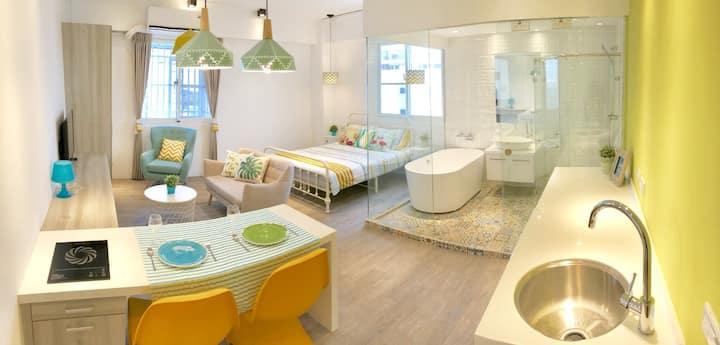 KittyGA Design Studio Washer/Dryer/TV