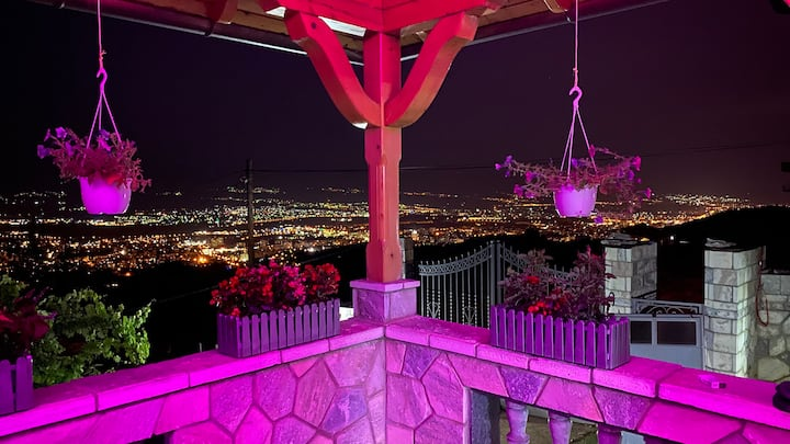Villa on the top of city of Skopje