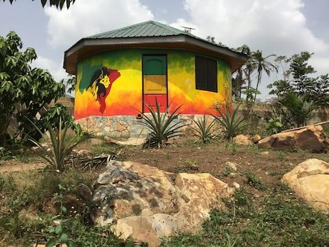Round Modern Hut on the Akuapem Ridge