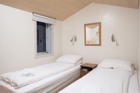 Magical location - Twin Room with Shared Bath - Westfjords!