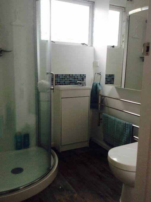 Private clean modern shower room