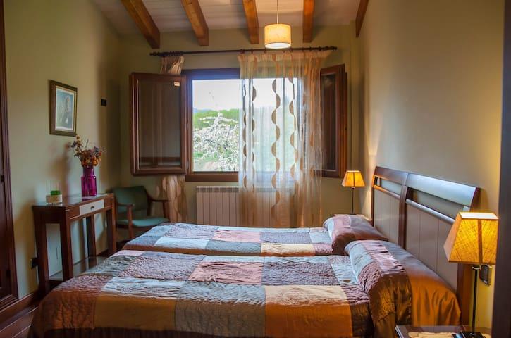 Hab con 2 camas, opcional 3 camas ,cocina, jardin - Santurde de Rioja - Dům