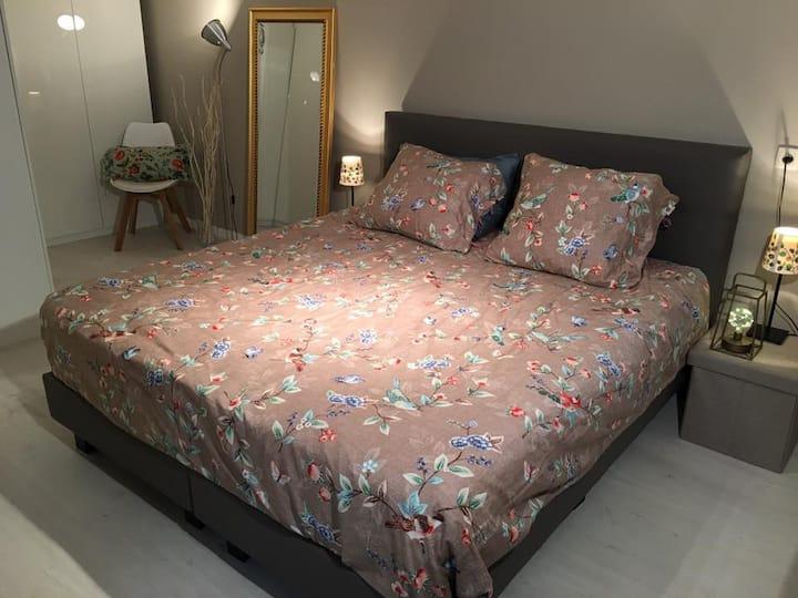 Ekeren rustige ruime kamer met badkamer
