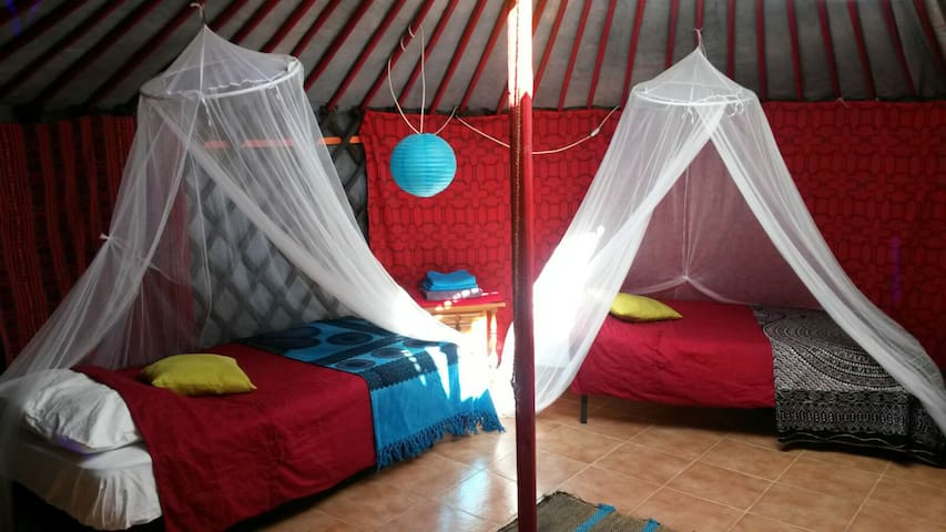 "Handcrafted Eco Yurt ""Cherry""@ The Source"