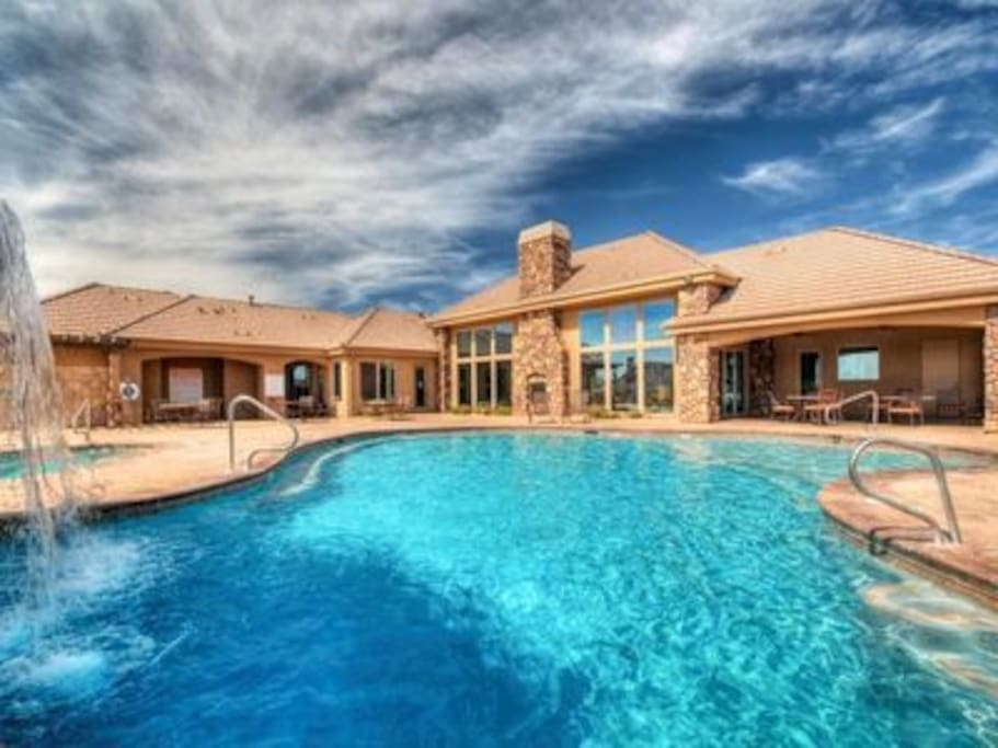 2 large year round heated pools and hot tubs