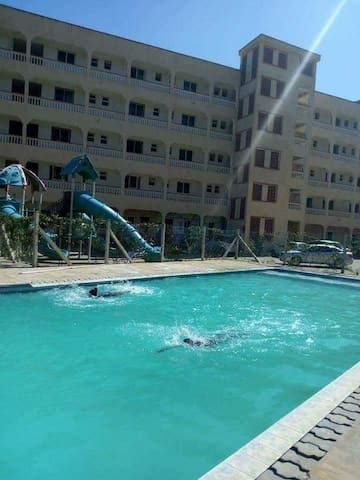 Pool and kids play area