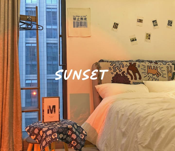 【白糖4】火车东站零距离,地铁,西湖,可以请你欣赏日落吗,超舒适床上用品,智能电视