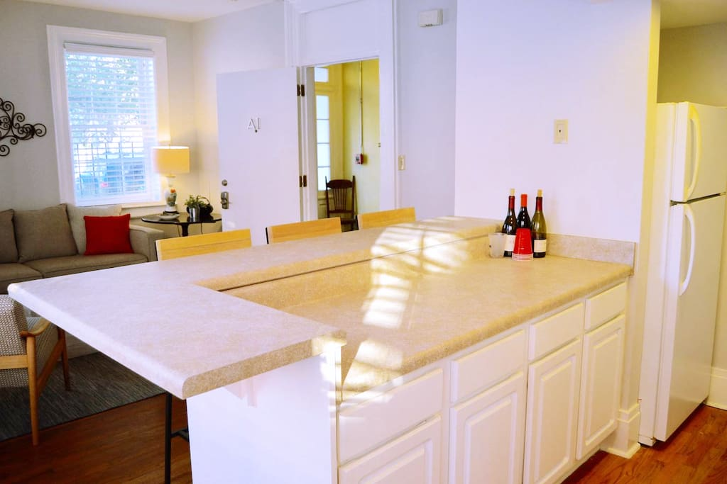 Kitchen has plenty of countertop space.