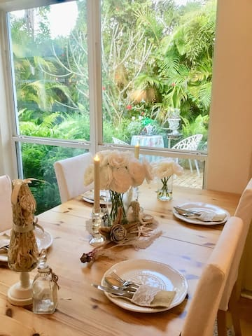 Enjoy breakfast overlooking the East Wing Gardens.