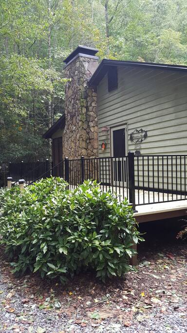 newly built deck entry on home
