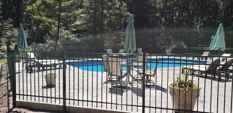 PRIVATE POOL tucked in the woods about 150 feet away from the Cranny.