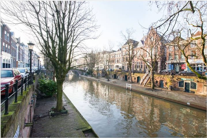 The typical Dutch canals, which is 10 seconds away from the apartment