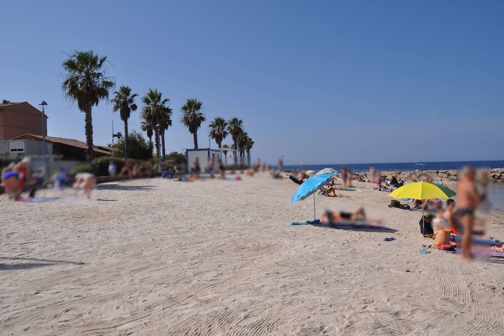 la plage de sable