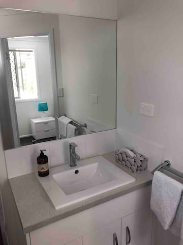 The master en-suite is brand new luxury. We also don't skimp on the small details like soap, body wash etc.