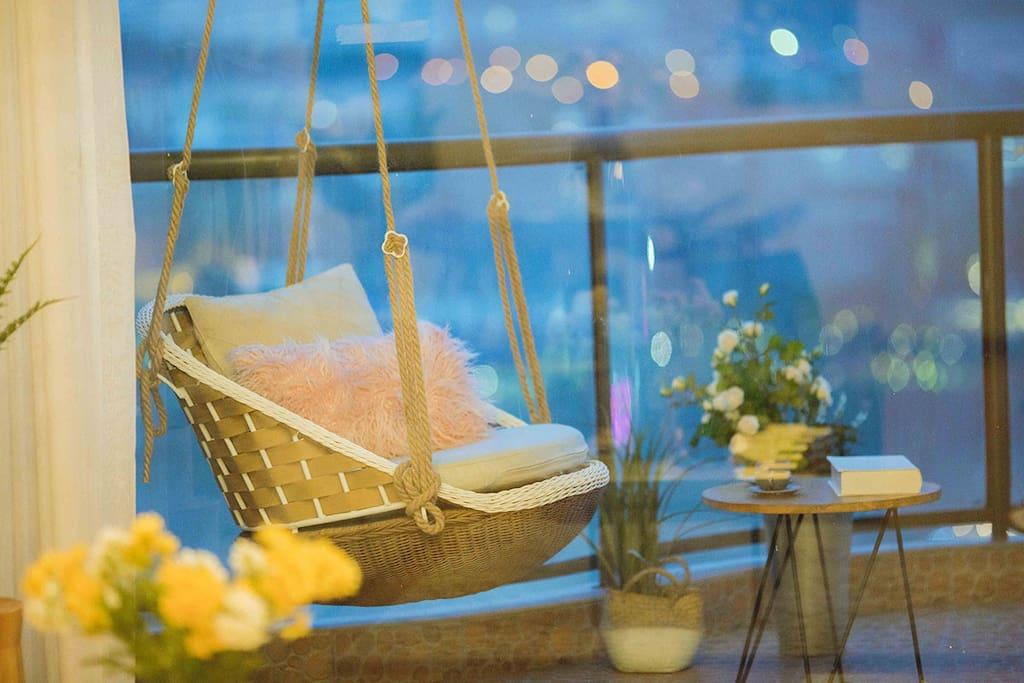 唯美阳台吊椅·房间里外皆风景/无处不在的视觉盛