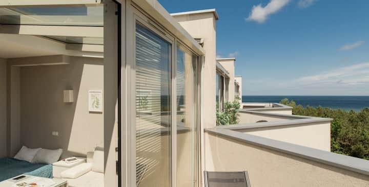 Apartament Marine z przeszklonym dachem z widokiem