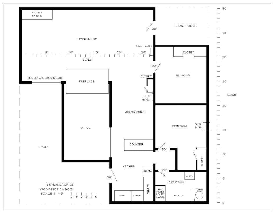 Plan View of House and Patio