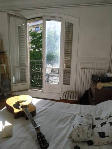 Charmante chambre lumineuse Paris 19ème