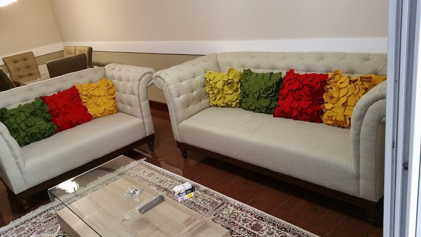 super modern and comfy living room from Ashly