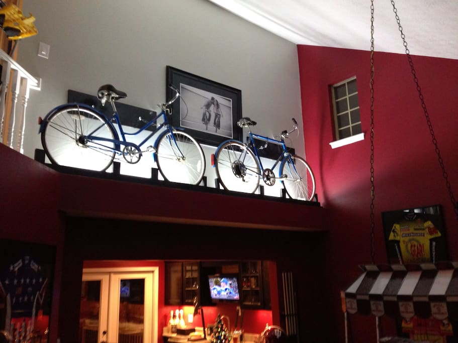 bicycle theme throughout entire house