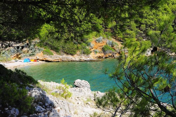 Incredible Paradise Camping in Medvidina Bay