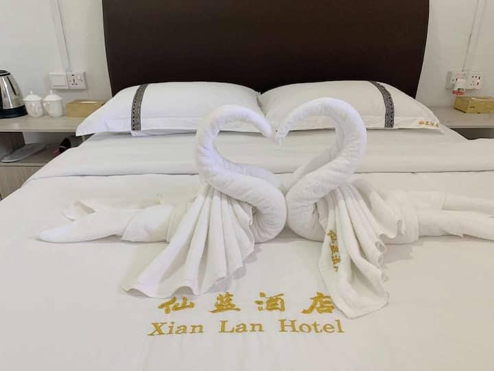 仙蓝酒店xianlan大床房 独立浴室 包含早餐 中国人房东 位于仙本那镇上 可安排接机一日游