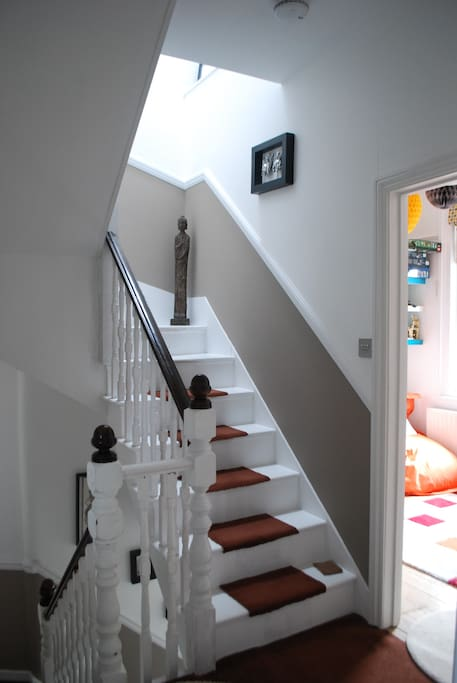First Floor Landing and Stairs to Second Floor