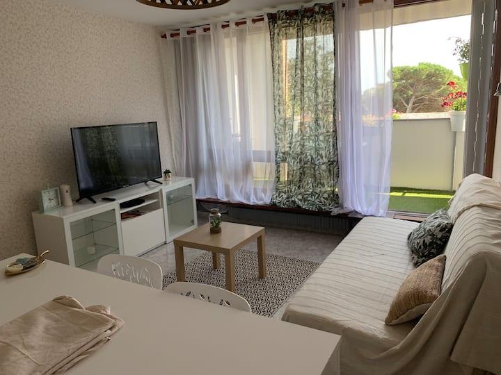 Appartement tout équipé 70m2 à 10mn à pied du lac.