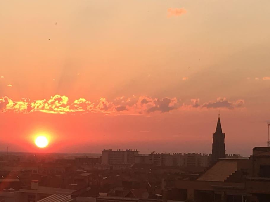 Coucher de soleil sur Basilique St Sernin
