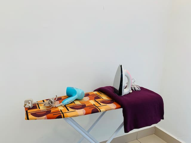 We do provide towels, blanket, hair dryer, iron and ironing board for your use here; so you can pack lighter...