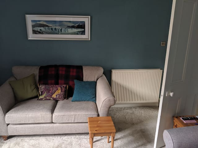 Spacious double bedroom in a city centre flat.
