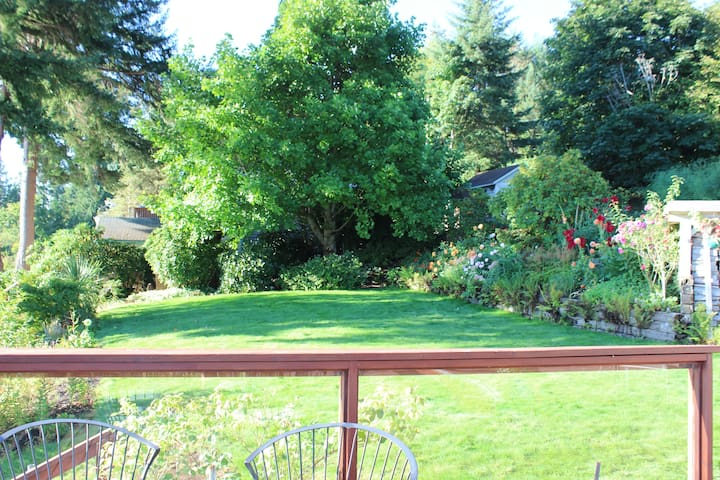 Large yard and garden that allows you additional privacy and space
