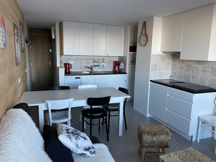 Apartment Plagne Centre 5/7 people,Mont Blanc view