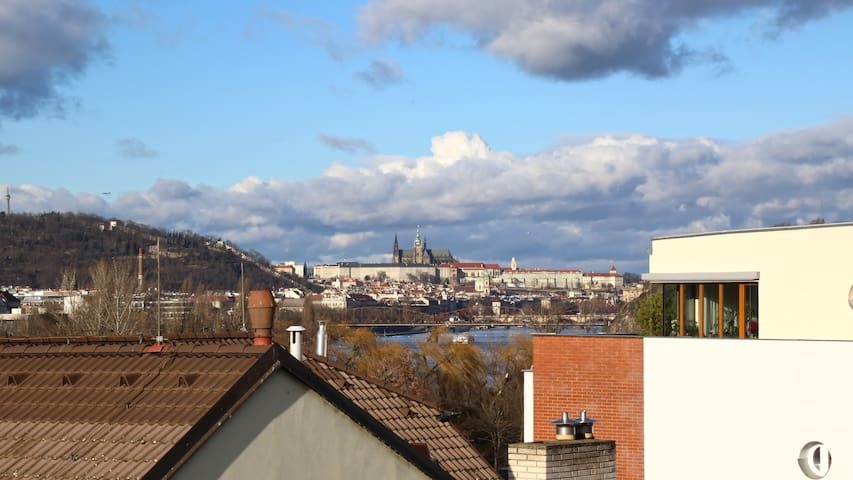Luxury apartment, with view of Prague Castle