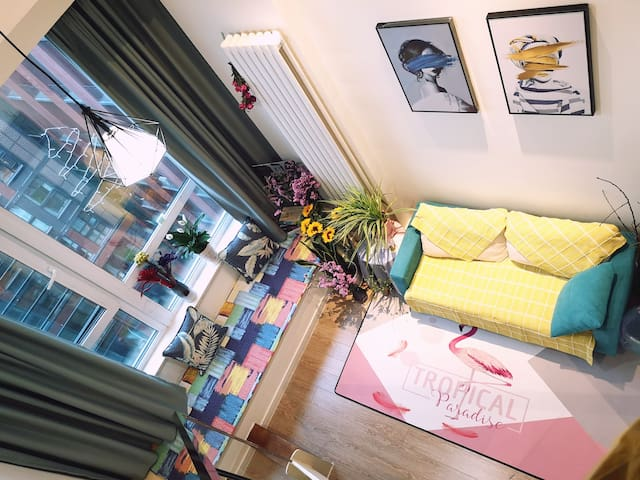 【Flower home】投幕电影房,首都机场15号地铁,小资文艺电影人花艺师之家】
