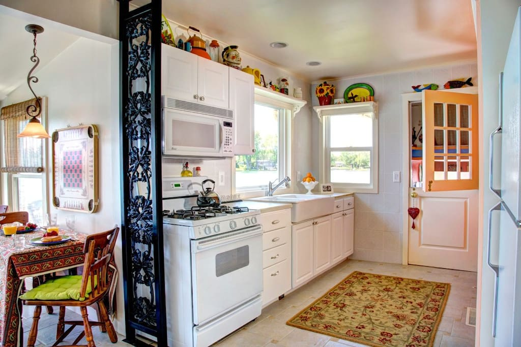 Fully equipped quality kitchen just like home.