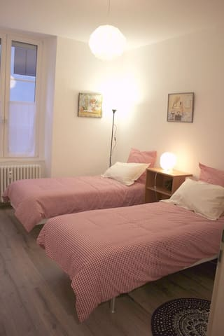 1 room : 2 single beds (90 x 200 cm)